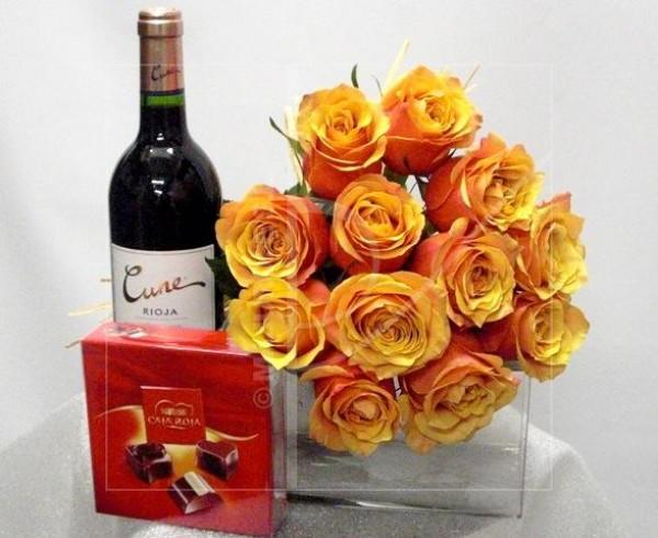 Rosas, Vino y Chocolate