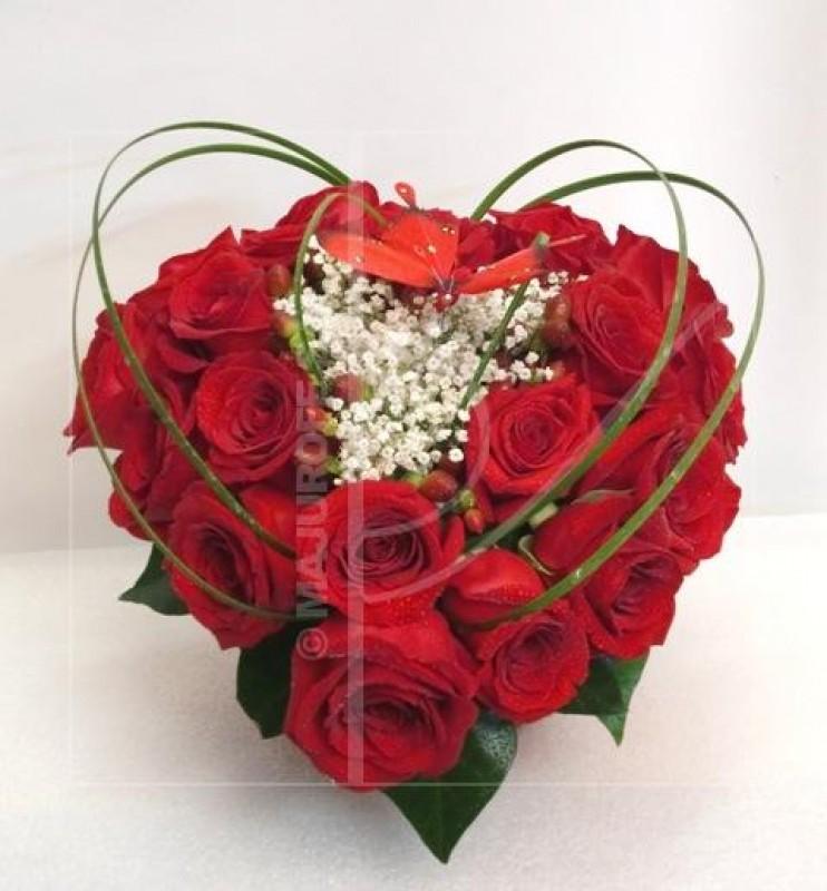 Corazón de 20 Rosas