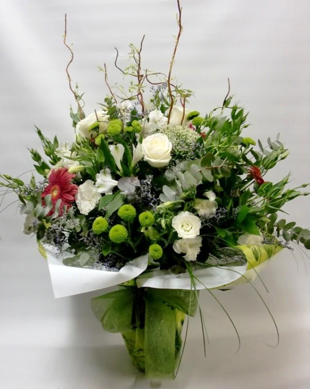 Jarrón de Rosas y Flor variada