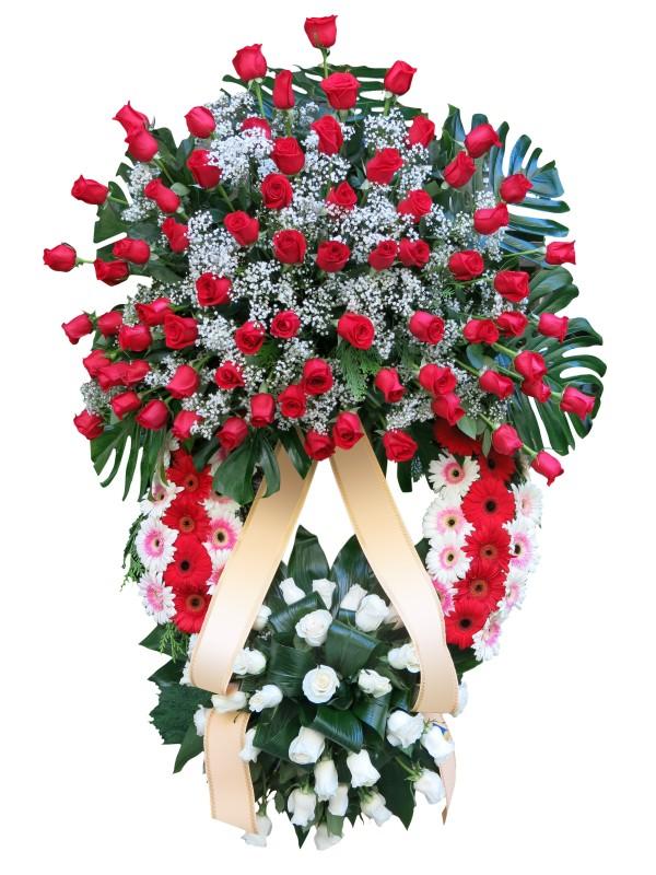 Corona de Rosas para difuntos