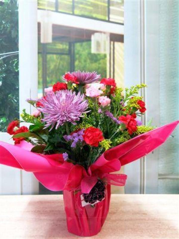 Jarrón de flor variada Mediterráneo