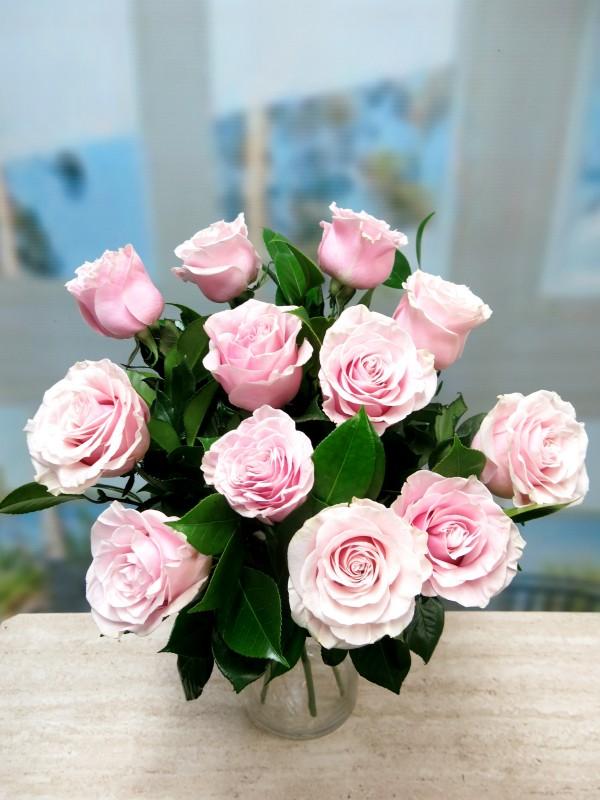12 Rosas Rosas de tallo corto 50-60 cm.