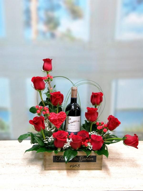 Rosas y Vino para celebrar San Valentín