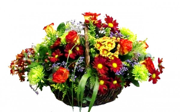 Cesta de flor variada PRIMAVERA - Foto principal