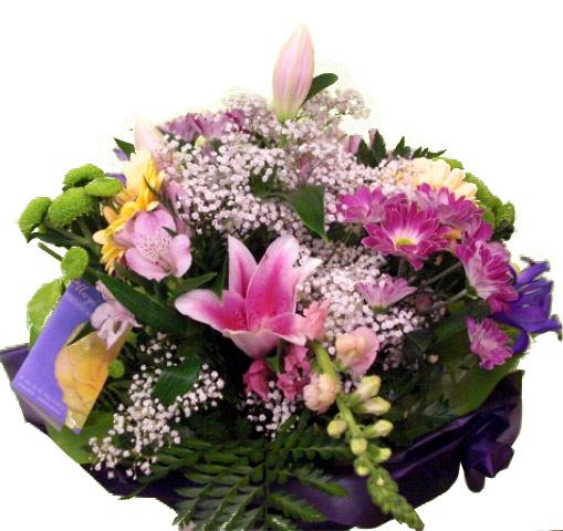 Ramo de flor variada en tonos rosa - Foto principal