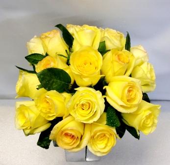 20 Rosas en recipiente de cristal - Foto 2