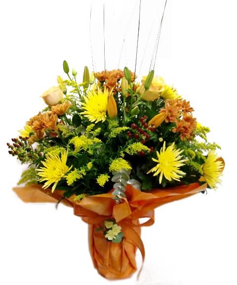 Jarrón de Flor variada en tonos amarillos - Foto principal