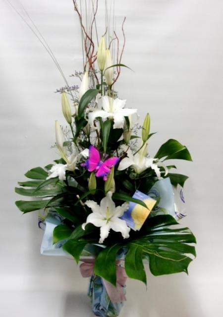 Lilium blanco en jarrón - Foto principal