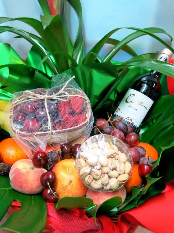 Cesta de frutas con Vino - Foto 3