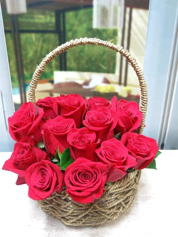 Cesta de Rosas San Valentin