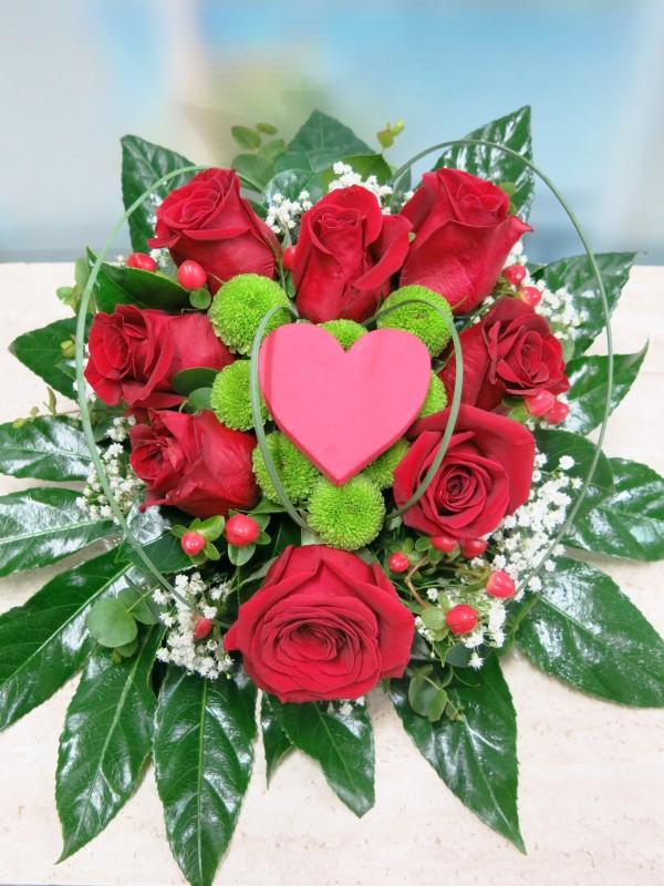 Corazón de 8 Rosas - Foto 2