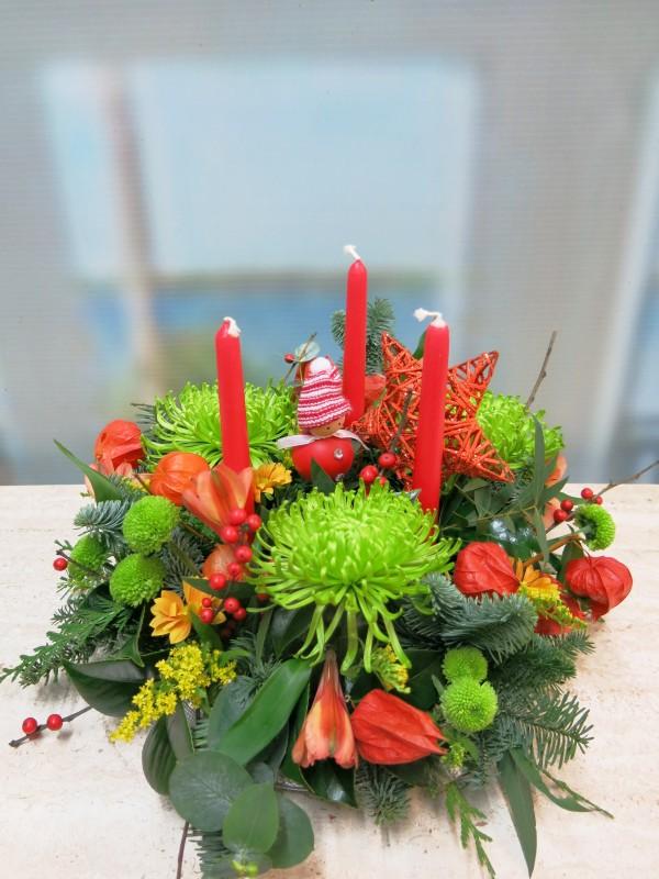 Centro de flores de Navidad de Anastasia verde - Foto principal