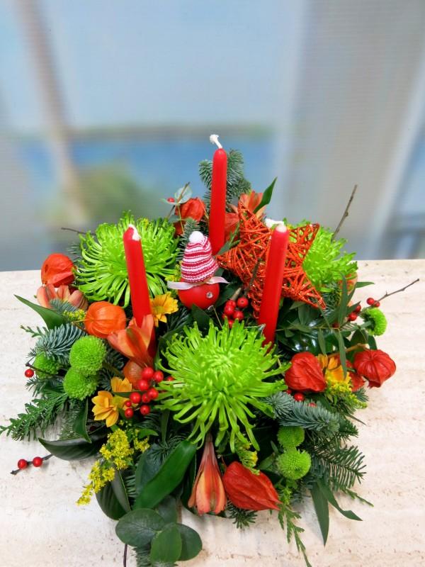 Centro de flores de Navidad de Anastasia verde - Foto 2