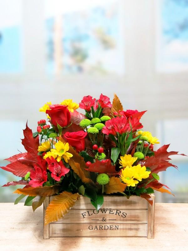Centro de Flores en caja