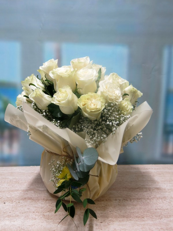 Centro de 30 Rosas en cristal