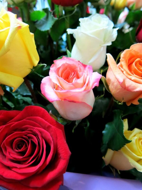 Jarrón con 100 Rosas variadas - Foto 3