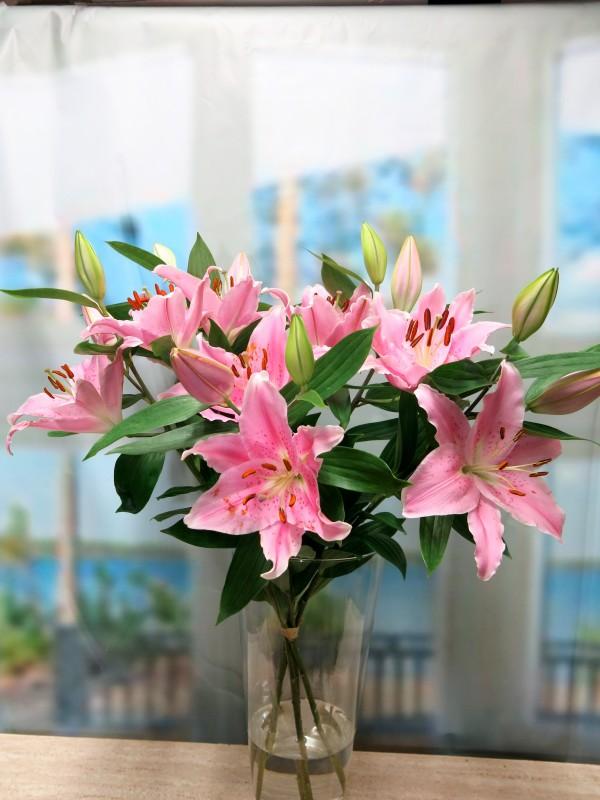 Lilium Oriental 5 tallos. - Foto 2
