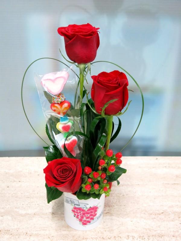 Rosas en taza con una Brocheta - Foto 3