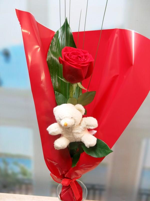 1 Rosa con Peluche - Foto principal