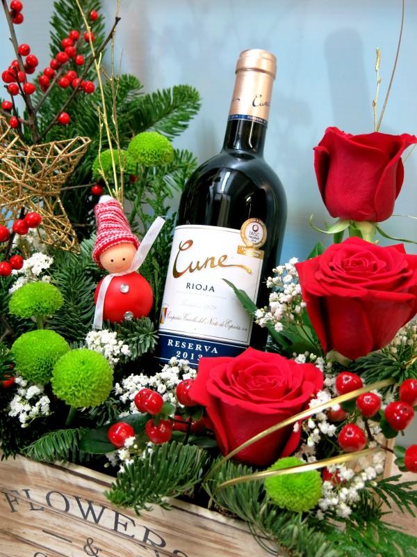 Cesta sorpresa con flores - Foto 4