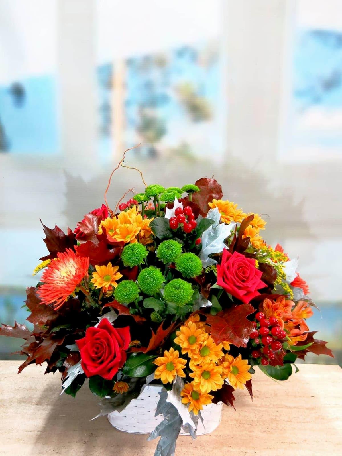 Colores otoñales en esta cesta - Foto principal