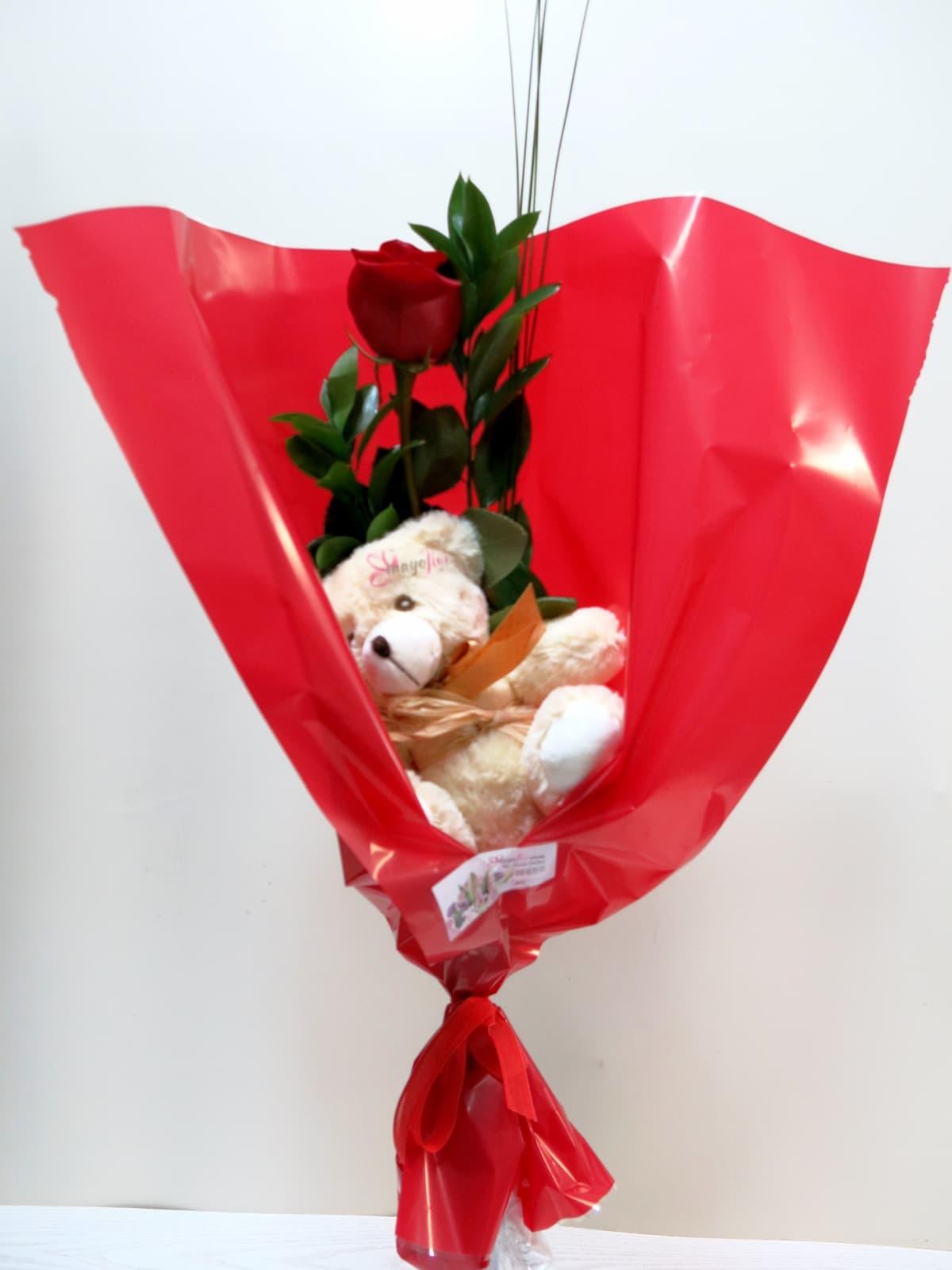 1 Rosa con Peluche - Foto 3