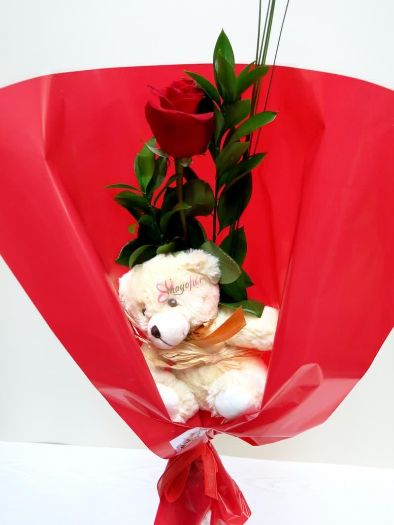 1 Rosa con Peluche - Foto 2