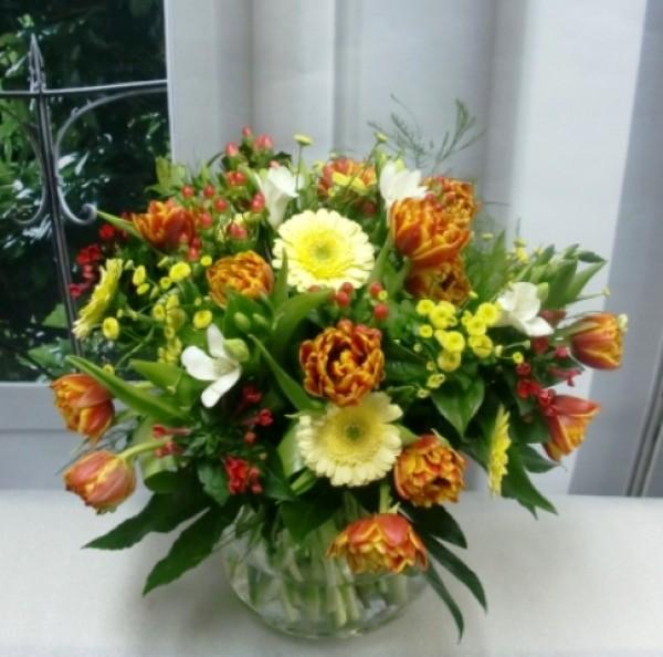 Varied Flower Vase. Oranges and Yellows - Foto 2