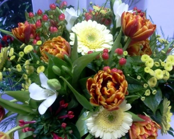 Varied Flower Vase. Oranges and Yellows - Foto 3