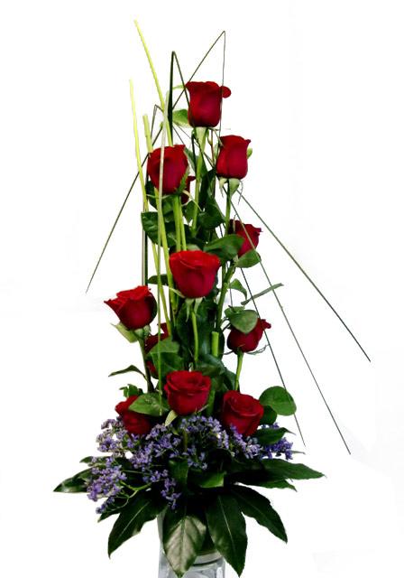 Rosas Con Diseño de color rojas