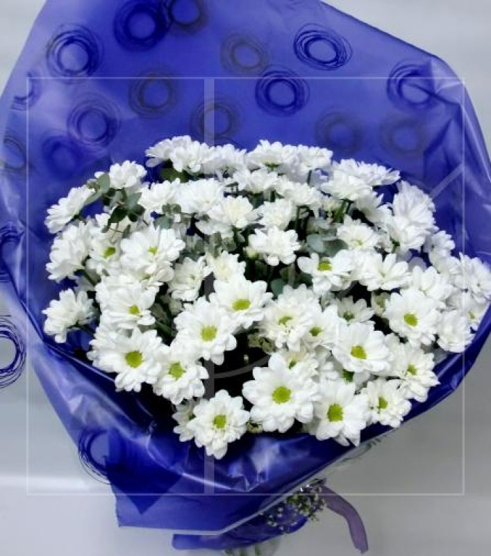 Bouquet of 15 stems of White Daisies - Foto principal