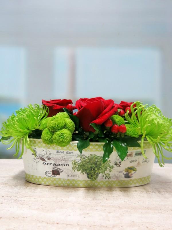 Jardinera con flores - Foto 2
