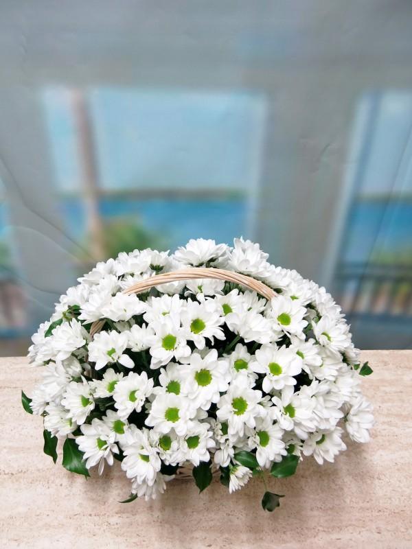 White daisies in basket - Foto 2