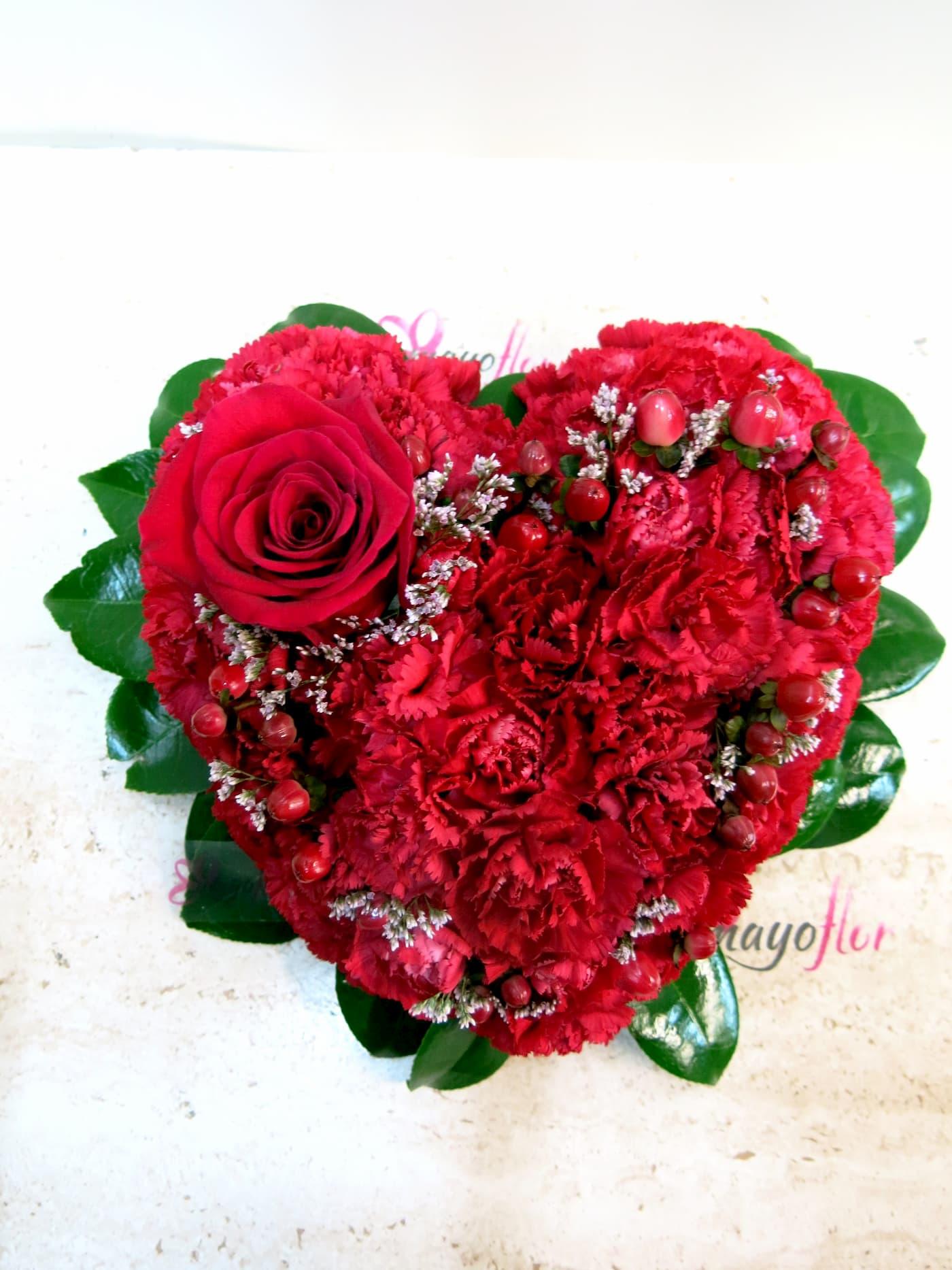 Con este corazón de Flores le dirás todo - Foto principal