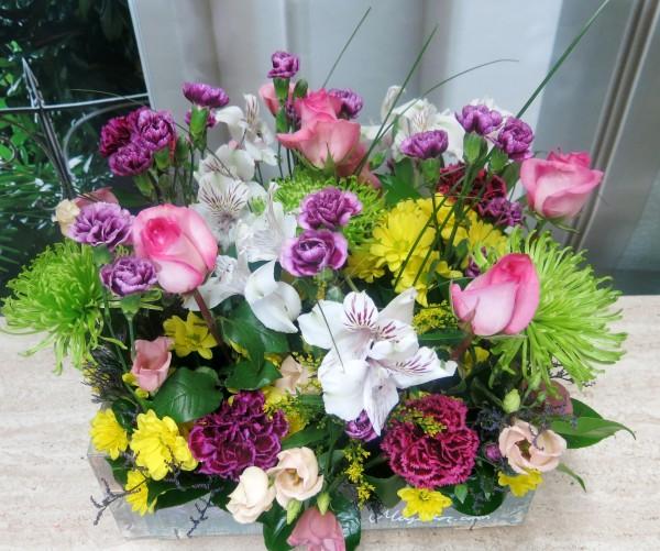 Caja de madera con flores - Foto 3