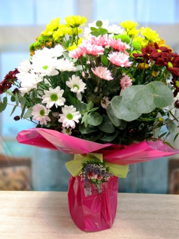 Stunning vase with assorted daisies - Foto 2