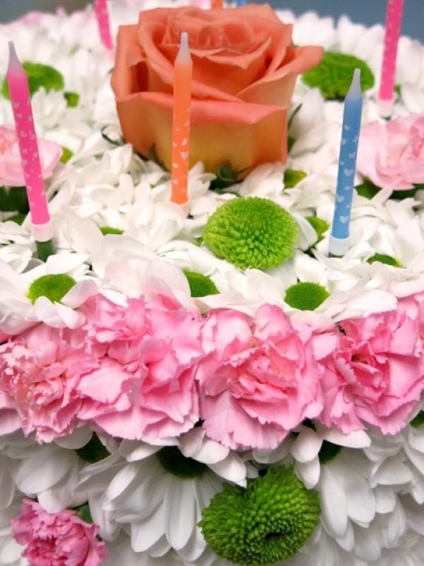 Tarta de Flores. Feliz Cumpleaños - Foto 3