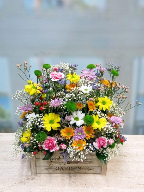 Alegría primaveral regalo completo; flores, bombones y vino - Foto 3