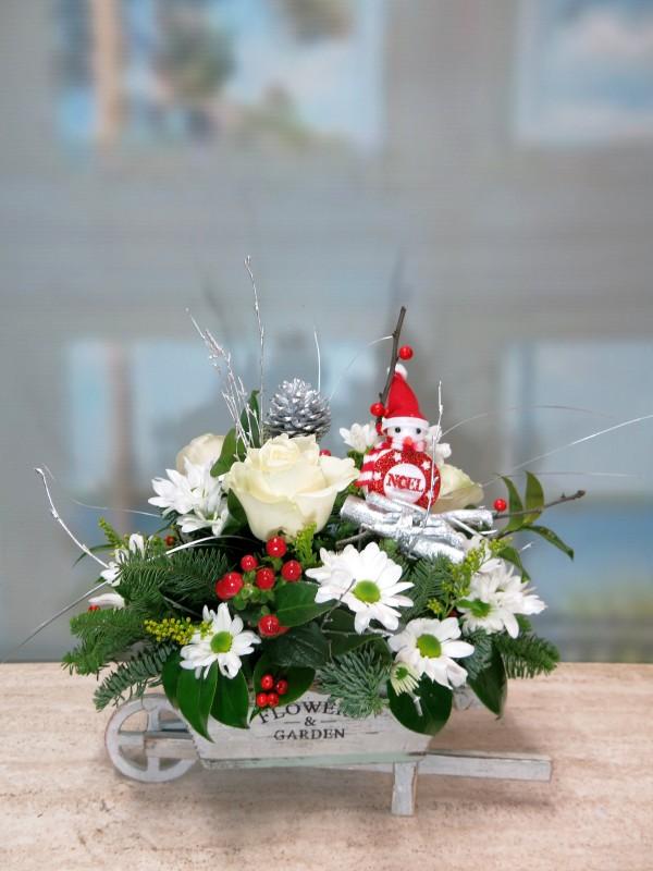 Carretilla de flores para Navidad - Foto 2
