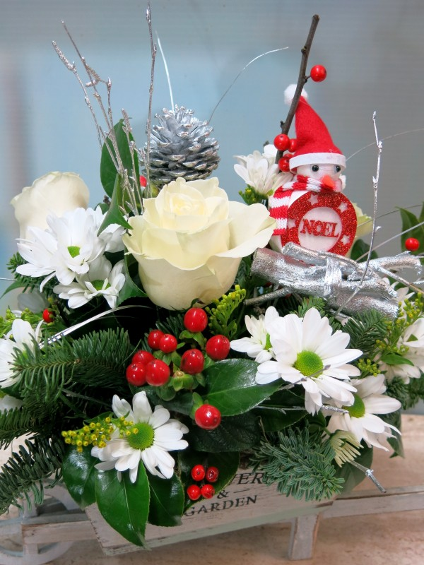 Carretilla de flores para Navidad - Foto 4