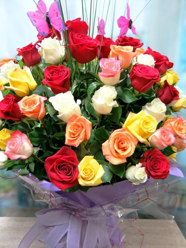 Jarrón con 100 Rosas variadas - Foto 2