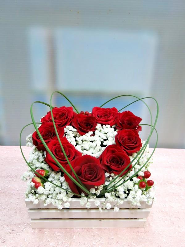 Regala tu corazón de rosas en una caja - Foto principal