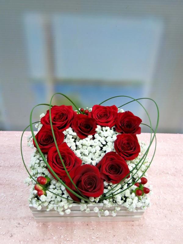 Regala tu corazón de rosas en una caja - Foto 3