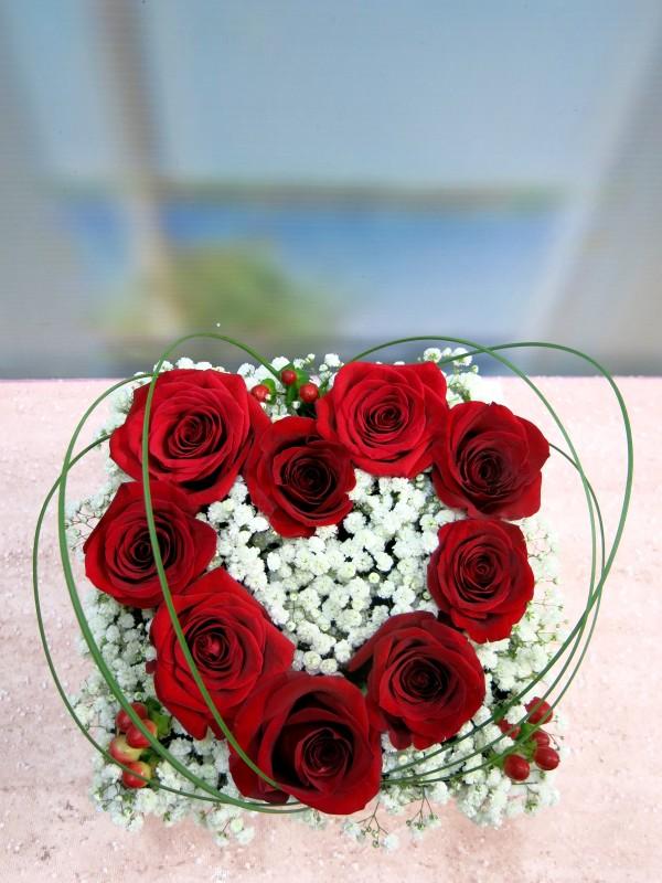 Regala tu corazón de rosas en una caja - Foto 2