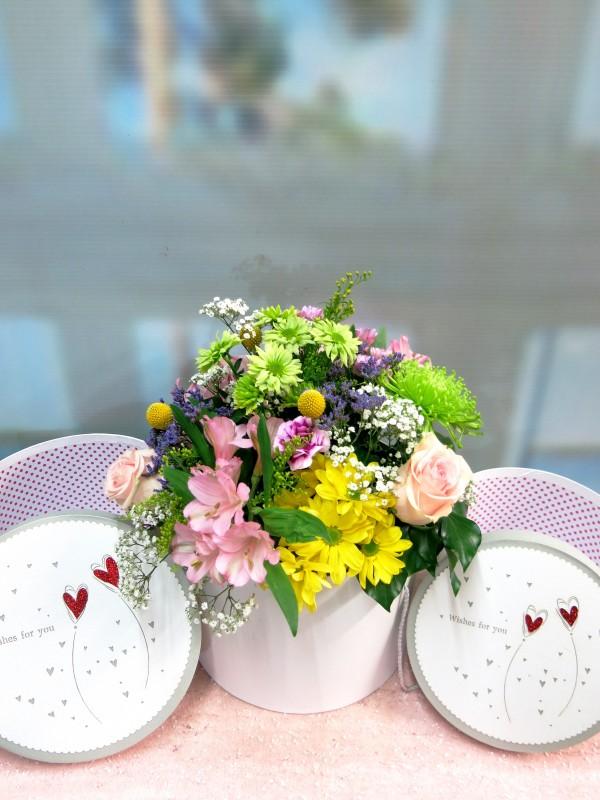 Flor variada en caja con tapa - Foto 2