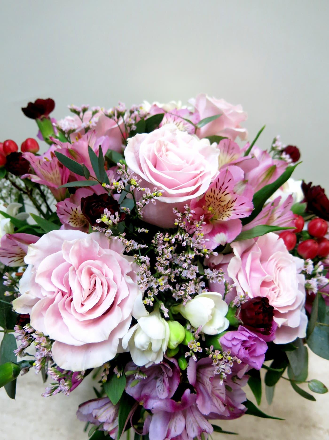 Mixed flower in pink tones - Foto 4