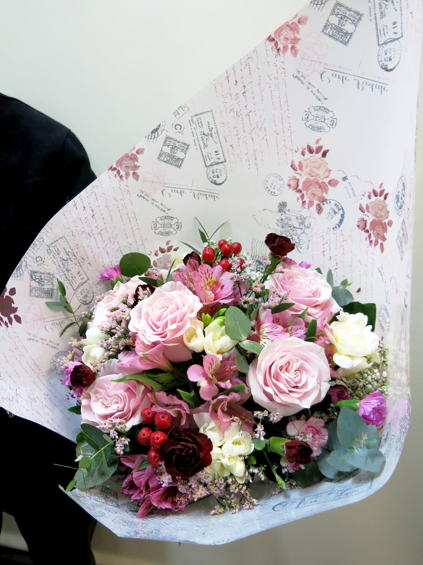Mixed flower in pink tones - Foto 3