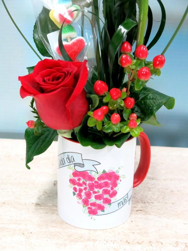Rosas en taza con una Brocheta - Foto 2