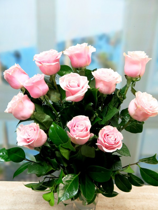 Bouquet 12 Rosas de color rosa - Foto principal